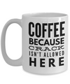 15 Oz Funny Coffee Mug - Coffee Because Crack Is Not Allowed Here - Funny Gifts For Women/Men - Funny Christmas Gifts