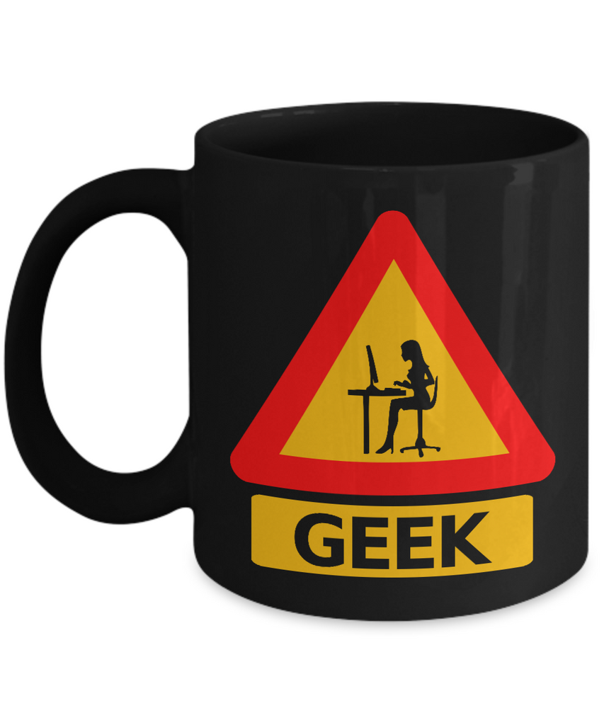 Geek Coffee Mug - Geek Gifts For Her - Science Geek Gifts - IT Geek Gifts - Computer Geek Gifts - Gifts For Computer Geeks-Hot Women Geek Black Mug - Coffee Mug - YesECart
