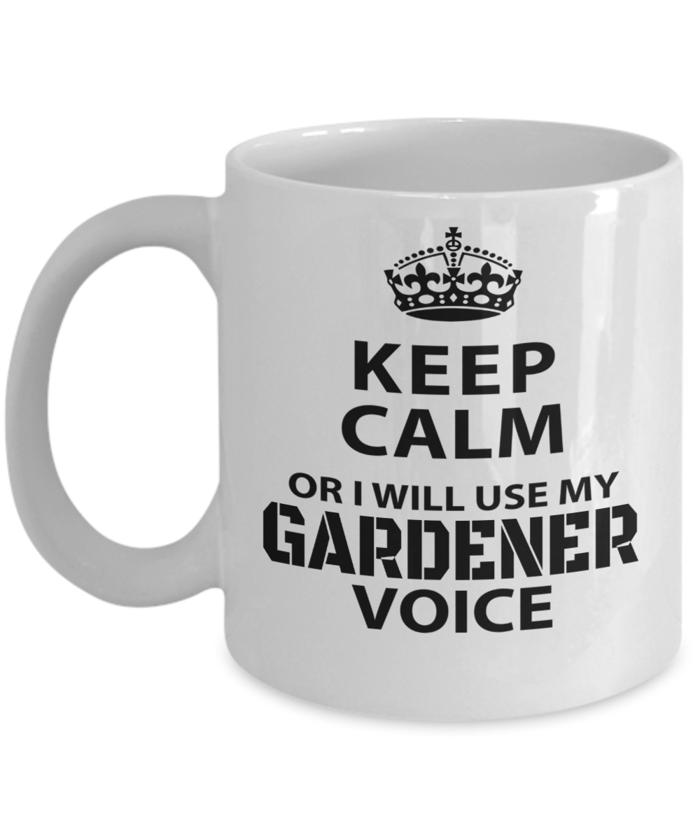 Gardening Gifts For Her   ThanksGiving Gardner Gift Ideas   11 Oz White Cup    Keep