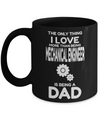 Funny Mechanical Engineering Gifts - Mechanical  Engineer Mug - The Only Thing I Love More Than Being Mechanical Engineer Is Being A Dad - Coffee Mug - YesECart