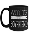 Boyfriend Gifts From Girlfriend Anniversary - 15oz Boyfriend Coffee Mug - Best Boyfriend Gifts For Birthday - Funny Boyfriend Mug - Worlds Best Boyfriend - Coffee Mug - YesECart