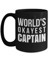 Captain Mug - 15oz Coffee Mug - Sailing Mug - Boating Mug - Sailing Gifts For Men - Worlds Okayest Captain - Coffee Mug - YesECart