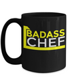 Cook Gift - 15oz Coffee Mug - Chef Mug - Culinary Gifts For Men - Badass Chef - Coffee Mug - YesECart