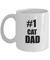 Cat Dad Mug- Number One Cat Dad-Cat Dad Coffee Mug - Cat Lover Gifts - Cat Gifts For Cat Lovers - Coffee Mug - YesECart