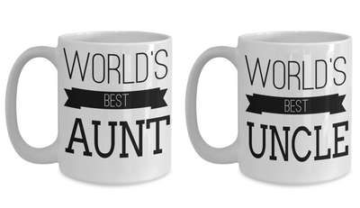 Amazing Aunt Gifts - Best Aunt Ever Gifts - Coffee Mug Aunt - Dear Aunt Mug - Super Uncle Gifts - Uncle And Aunt Gifts - 15oz Coffee Mugs - Coffee Mug - YesECart
