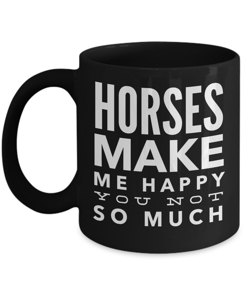 Horses Make Me Happy-Horse Gifts For Women-Horse Gifts For Horse Lovers-Horse Rider Gifts-Horse Related Gifts-Horse Gifts For Teens-Horse Mug-Horse Coffee Mug-Horse Mug Set-Horse Themed Gifts-YesEcart - Coffee Mug - YesECart