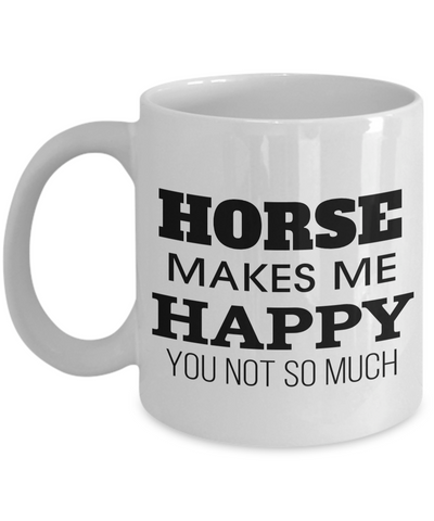 Horse Mug-Horse Gifts For Horse Lovers-Gift Horse-Horse Related Gifts - Coffee Mug - YesECart
