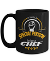 Cook Gift - 15oz Coffee Mug - Chef Mug - Culinary Gifts For Men - It Takes A Special Person To Be A Chef - Coffee Mug - YesECart