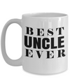 Best Uncle Gifts From Kids - Best Uncle 15oz Coffee Mug - Funny Uncle Gifts From Niece - Best Uncle Mug - I Love My Uncle Mug - Best Uncle Ever - Coffee Mug - YesECart