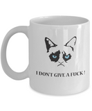 Grumpy Cat - I Don't Give A Fuck ! - Coffee Mug - YesECart