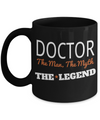 Medical Doctor Gifts - Doctor Office Gifts -Gifts Ideas For A Doctors - Best Funny Doctor Gift - Doctor Gag Gifts - Doctor Themed Gifts - Doctor The Man The Myth The Legend Black Mug - Coffee Mug - YesECart