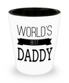 Fathers Day Gift- Unique Gifts For Dad - Best Dad Gifts - Gift Ideas For Dad -World's Best Daddy Shot Glass - Shot Glass - YesECart