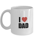 Gifts For Dad - Birthday Gifts For Dad- Dad Gifts From Daughter - Unique Gifts For Dad - Best Dad Mug-I love dad mug - Coffee Mug - YesECart