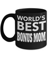 Good Step Mom Gifts  For Christmas Or Wedding - Step Mom Gifts For Birthday - Best Step Mom Mug - Worlds Best Bonus Mom - Coffee Mug - YesECart