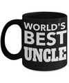 Best Uncle Gifts From Kids - Funny Uncle Gifts From Niece - Best Uncle Mug - I Love My Uncle Mug - Worlds Best Uncle Black Mug - Coffee Mug - YesECart