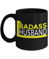 Husband Gifts From Wife - Anniversary Gifts For Husband - Birthday Gifts For Husband - Best Gift Ideas For Husband - Best Husband Coffee Mug - Badass Husband Black Mug - Coffee Mug - YesECart