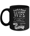Best Wife Coffee Mug - Anniversary Gifts For Wife - Best Gift Ideas For Wife - Gifts For Wife Birthday - I am a Wife That Means I am Creative Cool Passionate and a Little Bit Crazy Black Mug - Coffee Mug - YesECart