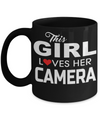 Funny Photographer Gifts For Women - Gift Ideas For Photographers - Photographer Coffee Mug - This Girl Loves Her Camera - Coffee Mug - YesECart