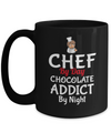 Cook Gift - 15oz Coffee Mug - Chef Mug - Culinary Gifts For Men - Chef By Day Chocolate Addict By Night - Coffee Mug - YesECart
