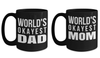 Birthday Gifts Mom - Mom Wedding Gifts - Gifts Mom Mug - Worlds Anniversary Gift Mug - Okayest Dad Mug - Coffee Mug For Dad - Badass Dad Mug - Coffee Mug - YesECart