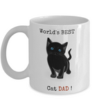 Cat Dad Mug- World Best Cat Dad-Cat Dad Coffee Mug - Cat Lover Gifts - Cat Gifts For Cat Lovers -gifts For Cat Lovers - Gifts Cat Lovers -Cat Lovers Gifts-gifts For The Cat Lover- Cat Gifts For People - Coffee Mug - YesECart