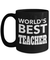 Best Teacher Mug - 15oz Teacher Coffee Mug - Teacher Gifts For Christmas - Funny Teacher Gift Ideas - Retirement Gifts For Teachers - Worlds Best Teacher - Coffee Mug - YesECart