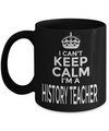 Best History Teacher Gifts - Funny History Teachers Mug - I Cant Keep Calm I am a History Teacher Black Mug - Coffee Mug - YesECart