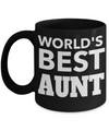 Great Aunt Mug - Best Aunt Mug - Great Aunt Gifts - Birthday Gift For Aunt - Aunt and Niece Gifts - Aunt Gifts From Nephew - Worlds Best Aunt Balck Mug - Coffee Mug - YesECart