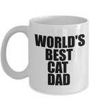 World Best Cat Dad-Cat Dad Mug- Cat Dad Coffee Mug - Cat Lover Gifts - Cat Gifts For Cat Lovers -gifts For Cat Lovers - Gifts Cat Lovers -Cat Lovers Gifts-gifts For The Cat Lover- Cat Gifts For People - Coffee Mug - YesECart