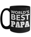 Best Papa Mug - Best Papa Gift Ideas - Nana Papa Gifts -Best Grandpa Gifts - Best Papa 15oz Coffee Mug - Worlds Best Papa - Coffee Mug - YesECart