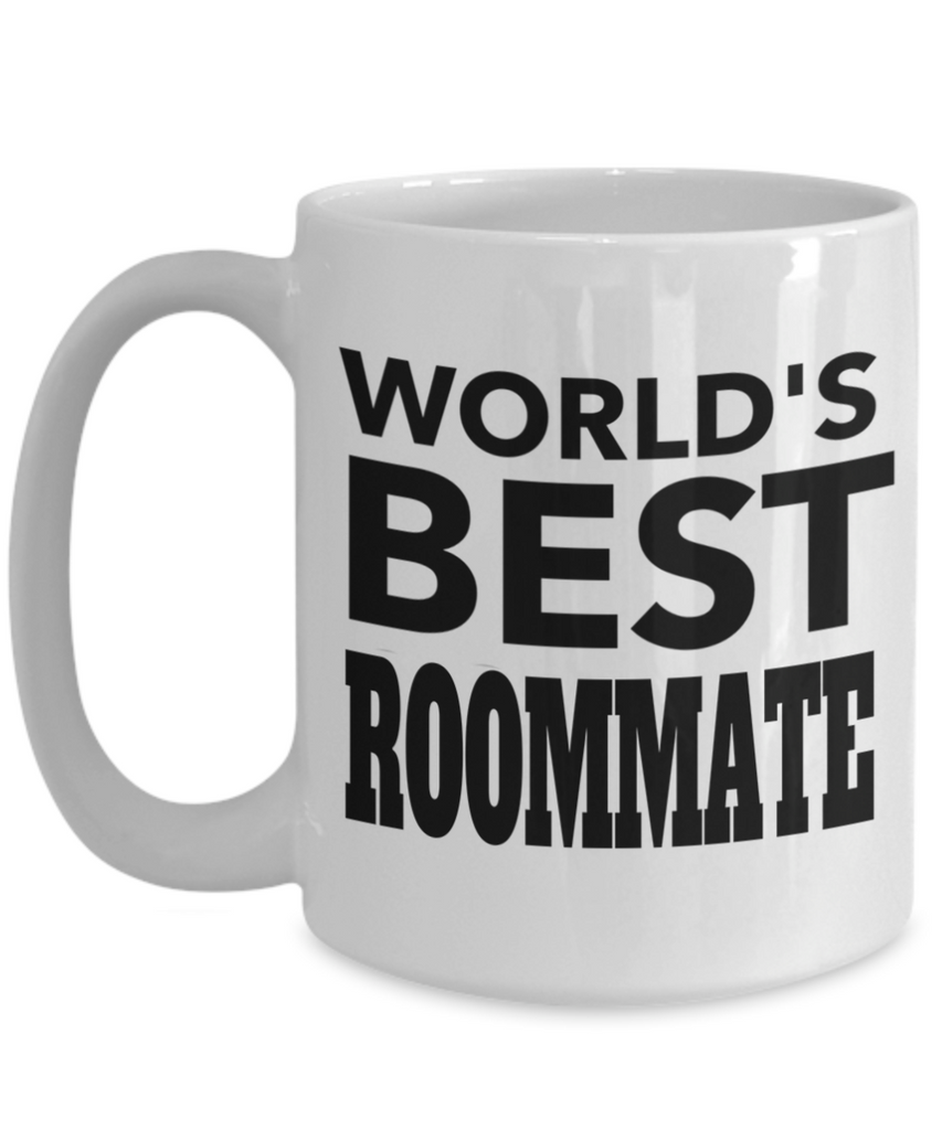 Birthday Gifts for Roommates - 15 oz Roommate Coffe Mug - Best Roommate Gifts - Best Roommate Mug - Worlds Best Roommate - Coffee Mug - YesECart
