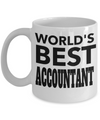 Funny Accountant Gifts for Women or Men - Retired Tax Accountant Gifts Idea - Worlds Best Accountant - Coffee Mug - YesECart