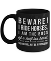 Beware I Ride Horse-Horse Gifts For Women-Horse Gifts For Horse Lovers-Horse Rider Gifts-Horse Related Gifts-Horse Gifts For Teens-Horse Mug-Horse Coffee Mug-Horse Mug Set-Horse Themed Gifts-YesEcart - Coffee Mug - YesECart