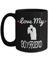 Boyfriend Gifts From Girlfriend Anniversary - 15oz Boyfriend Coffee Mug - Best Boyfriend Gifts For Birthday - Funny Boyfriend Mug - Love My Boyfriend - Coffee Mug - YesECart