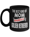 Golden Retriever Gifts-Golden Retriever Mug-Golden Retriever Mom-The Best Kind of Mom Raises a Golden Retriever Black Mug - Coffee Mug - YesECart