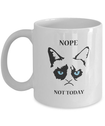 Grumpy Cat Mug - Grumpy Cat Gifts- Nope Not Today - Coffee Mug - YesECart