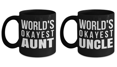 Aunt And Uncle Coffee Mugs - Great Uncle Mug - Crazy Uncle Mug - Favorite Aunt Gifts - The Best Aunt Mug - Uncle Gifts Funny - 11 Oz Couple Mugs - Coffee Mug - YesECart