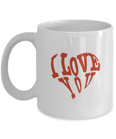 Girlfriend Gifts-I Love You-Girlfriend Gift Ideas-Girlfriend Christmas Gifts-Gifts Girlfriend-Love My Husband Gifts-New Love Gifts-Gifts That Say I Love You-Valentines Love Gifts-Gifts For Boyfriend-I love you Heart - Coffee Mug - YesECart