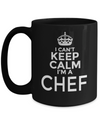 Cook Gift - 15oz Coffee Mug - Chef Mug - Culinary Gifts For Men - I Cant Keep Calm I Am A Chef - Coffee Mug - YesECart