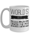 Drama Teacher Gifts - Drama Teacher Mug - Worlds Best Drama Teacher White Mug - Coffee Mug - YesECart
