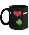 Frog Gifts-Frog Themed Gifts-Frog Mug-Mug Frog-Frog Mom-I Love My Frog Black Mug - Coffee Mug - YesECart