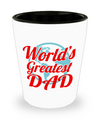 Fathers Day Gift- Unique Gifts For Dad - Best Dad Gifts - Gift Ideas For Dad -World's Greatest Dad Shot Glass - Shot Glass - YesECart