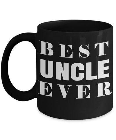 Best Uncle Gifts From Kids - Funny Uncle Gifts From Niece - Best Uncle Mug - I Love My Uncle Mug - Best Uncle Ever Black Mug - Coffee Mug - YesECart