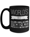 Math Teacher Gifts - Math Teacher Mug - Worlds Best Math Teacher Black Mug - Coffee Mug - YesECart