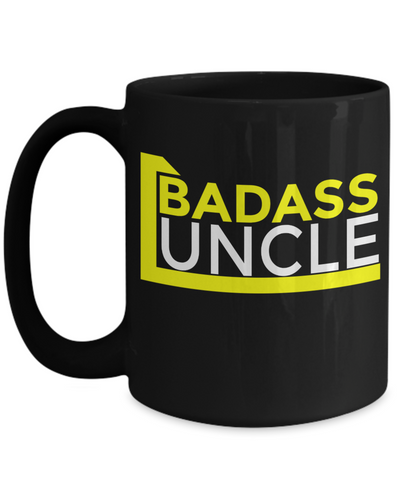 Uncle Christmas Gifts | World's Greatest Uncle Mug- YESECART - Badass Uncle - Coffee Mug - YesECart