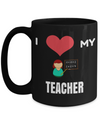Best Teacher Mug - 15oz Teacher Coffee Mug - Teacher Gifts For Christmas - Funny Teacher Gift Ideas - Retirement Gifts For Teachers - I Love My Teacher - Coffee Mug - YesECart