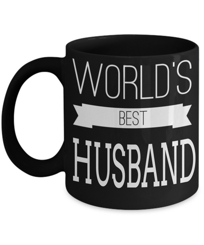 Husband Gifts From Wife - Anniversary Gifts For Husband - Birthday Gifts For Husband - Best Gift Ideas For Husband - Best Husband Coffee Mug - Worlds Best Husband Black Mug - Coffee Mug - YesECart