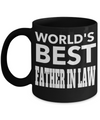 Best Birthday Gifts For Father In Law - Father In Law Coffee Mug - Gift Ideas For Father In Law  For Wedding - Worlds Best Father in Law Black Mug - Coffee Mug - YesECart
