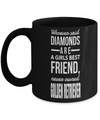 Golden Retriever Gifts-Golden Retriever Mug-Golden Retriever Mom-Whoever Said Diamonds are a Girls Best Friend Never Owned Golden Retriever Black Mug - Coffee Mug - YesECart