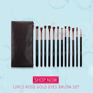 12pcs Eyeshadow Makeup Brushes Set Pro Rose Gold Eye Shadow Blending Make Up Brushes Soft Synthetic Hair For Beauty- Free Shipping